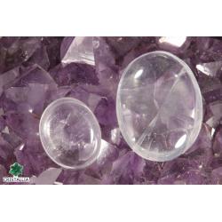 Galet Cristal de roche  (Quartz blanc) 2 ou 4 cm