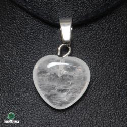 Pendentif Coeur Pierre naturelle Cristal de roche