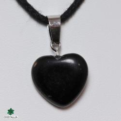 Pendentif Coeur Pierre naturelle Onyx