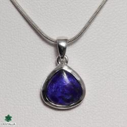 Collier Lapis lazuli argent rhodié 925