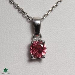 Collier Tourmaline rose argent rhodié 925
