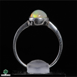 Opale noble d'Ethiopie sertie argent