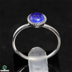 Bague argent rhodié Lapis lazuli