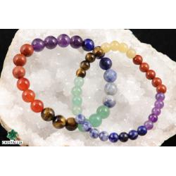 Bracelet perles 7 Chakras 6 et 8 mm