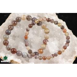 Bracelet perles Agate du Botswana 6 et 8 mm