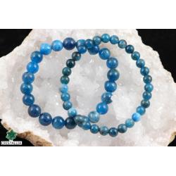 Bracelet perles Apatite 6 et 8 mm