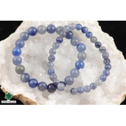 Bracelet perles Aventurine bleue 6 et 8 mm