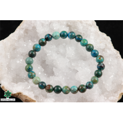 Bracelet perles Chrysocolle 6 et 8 mm